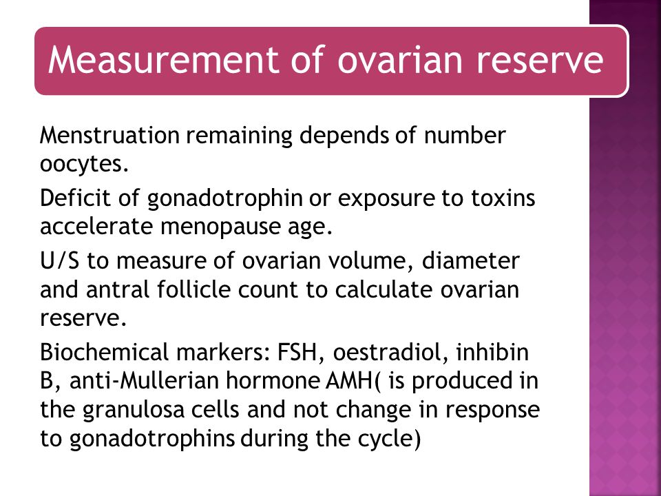 Measurement of ovarian reserve