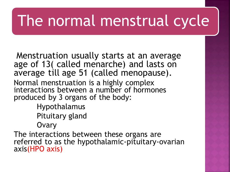 The normal menstrual cycle