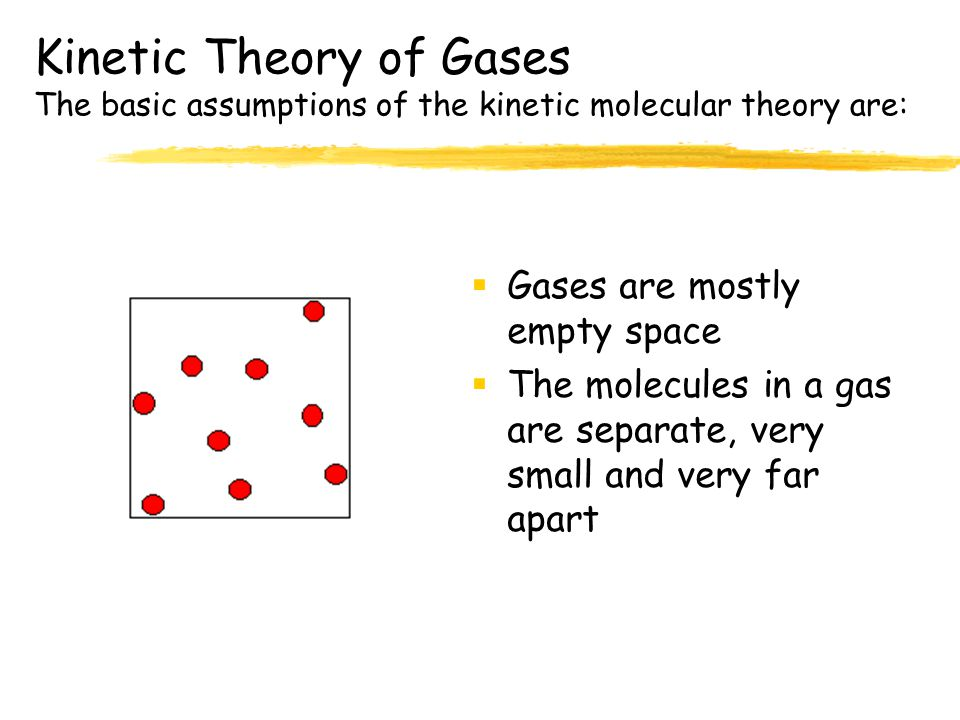 Kinetic Theory of Gases The basic assumptions of the kinetic molecular theory are:
