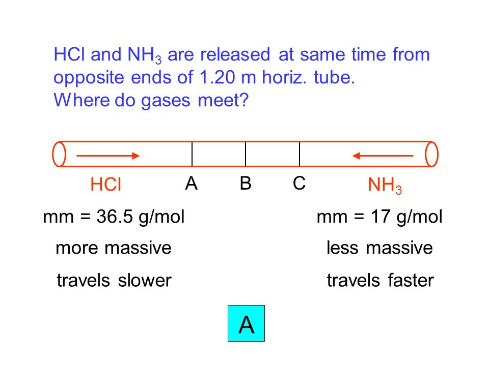 A HCl and NH3 are released at same time from