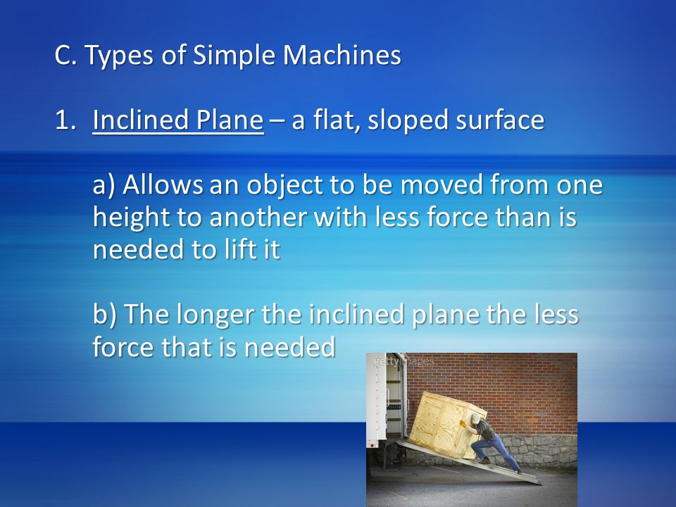 C. Types of Simple Machines