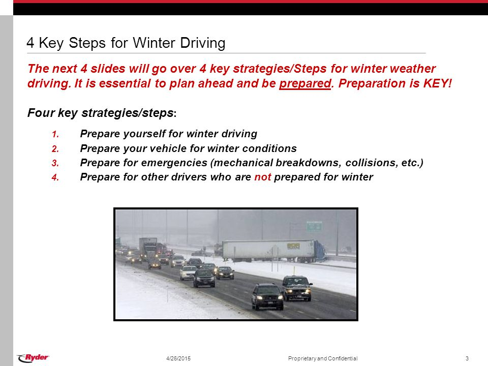 4 Key Steps for Winter Driving