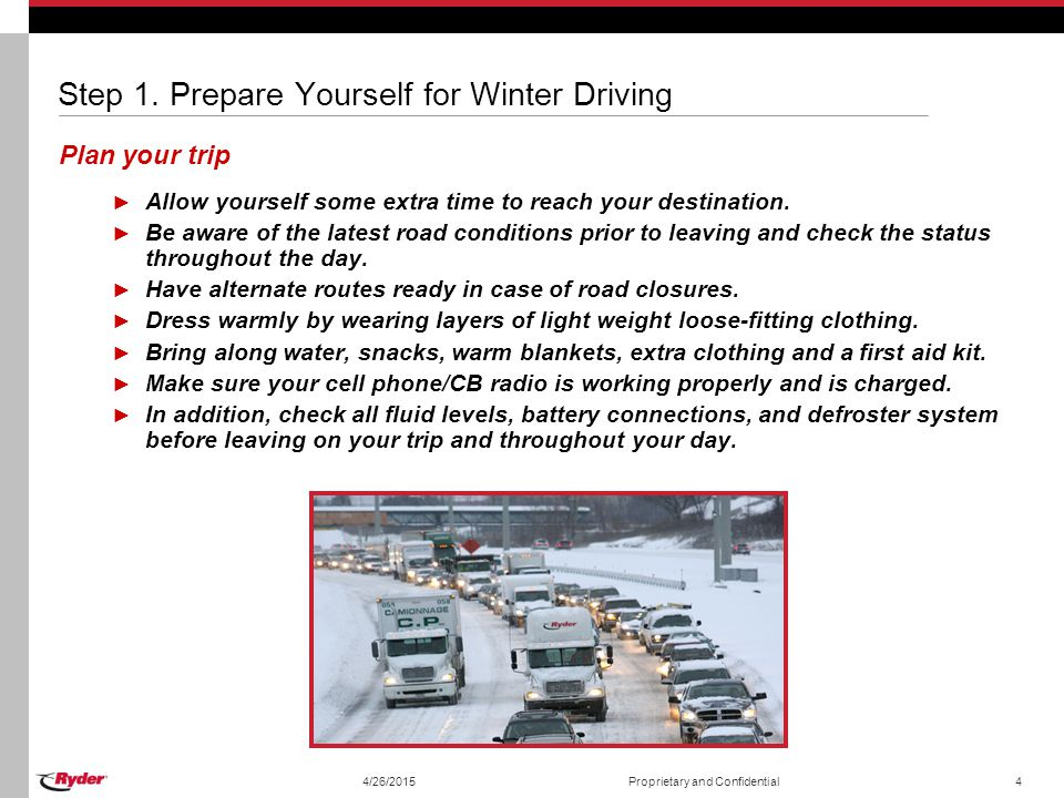 Step 1. Prepare Yourself for Winter Driving