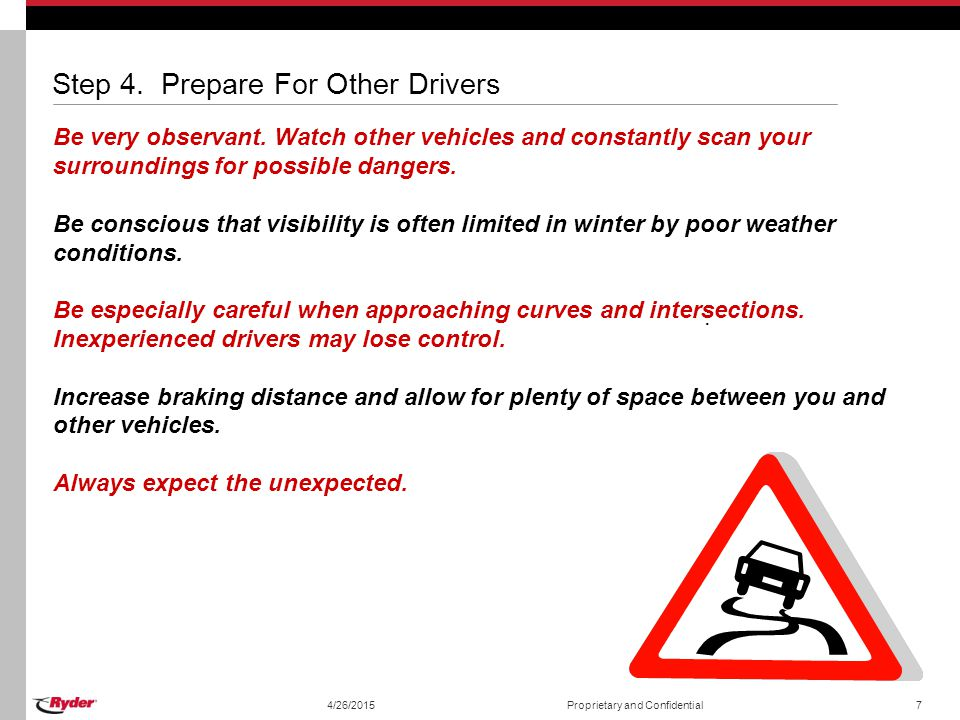 Step 4. Prepare For Other Drivers