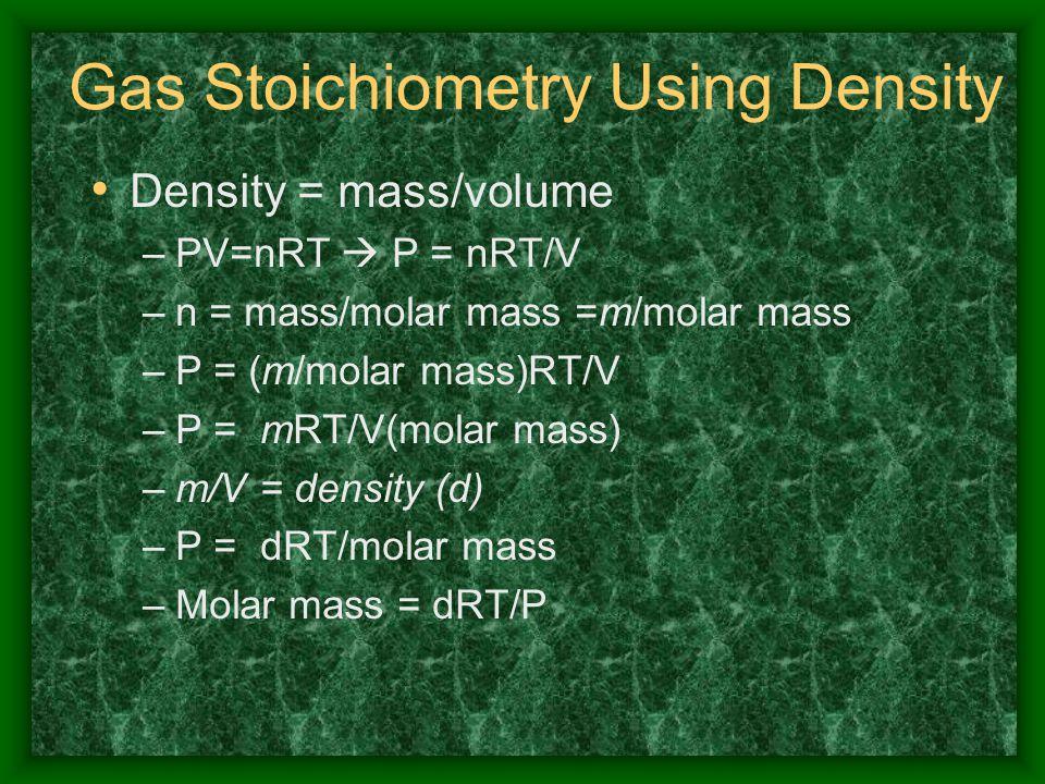 Gas Stoichiometry Using Density
