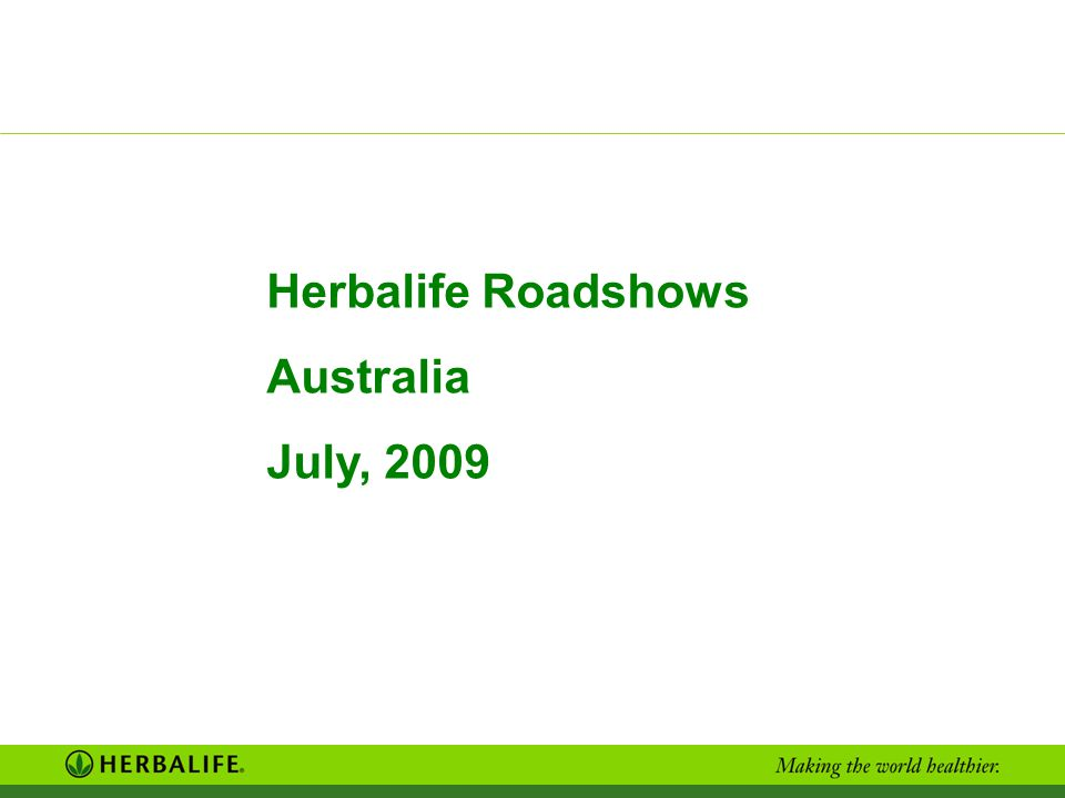 Herbalife Roadshows Australia July, 2009