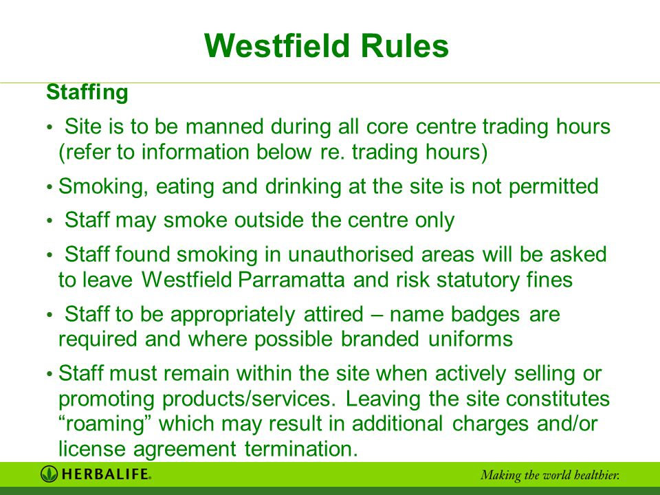 Westfield Rules Staffing