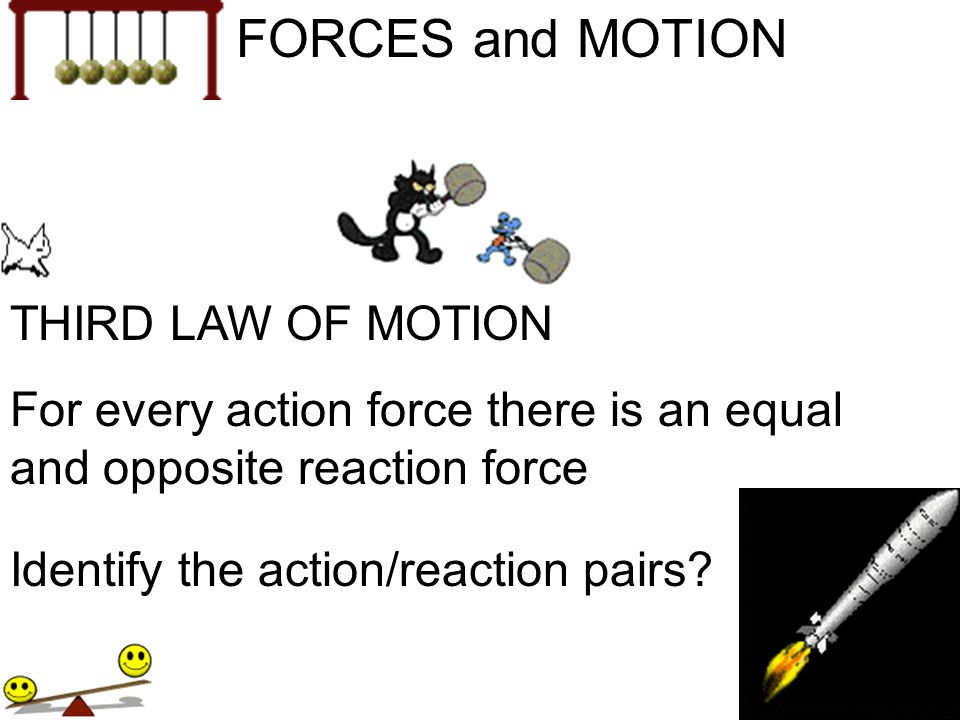 FORCES and MOTION THIRD LAW OF MOTION