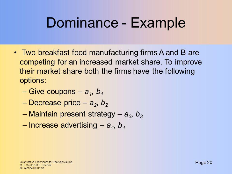 Dominance - Example