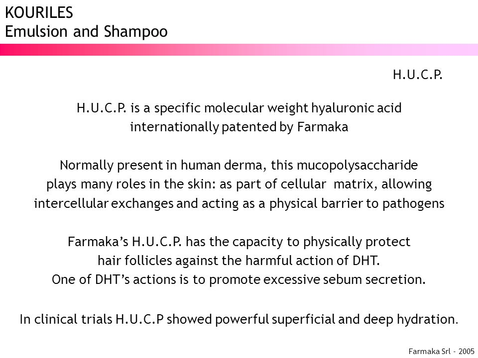 H.U.C.P. is a specific molecular weight hyaluronic acid