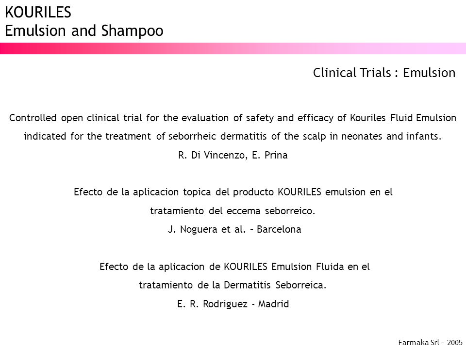 Clinical Trials : Emulsion