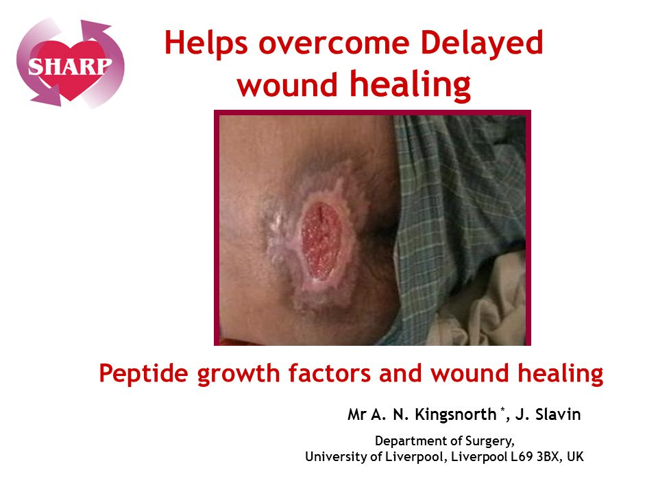 Helps overcome Delayed wound healing