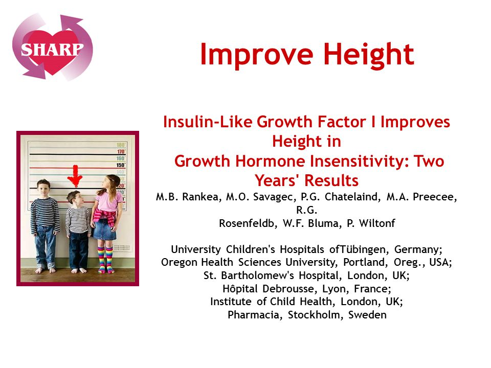 Insulin-Like Growth Factor I Improves Height in