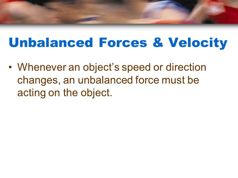 Unbalanced Forces & Velocity