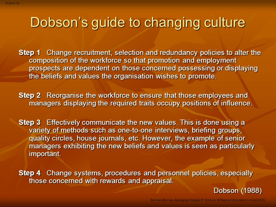 Dobson's guide to changing culture