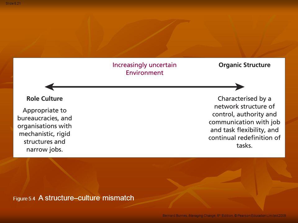 Figure 5.4 A structure–culture mismatch