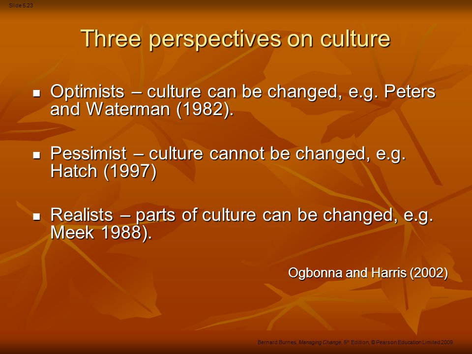 Three perspectives on culture