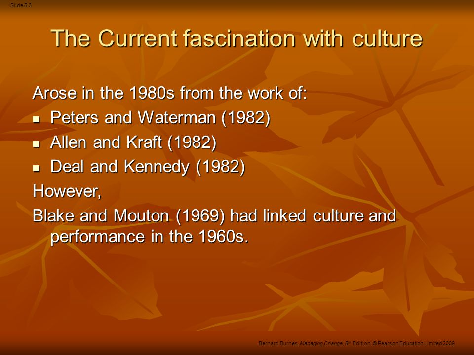 The Current fascination with culture
