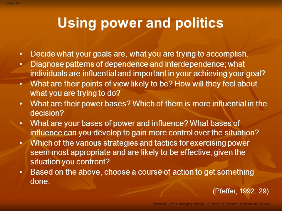 Using power and politics
