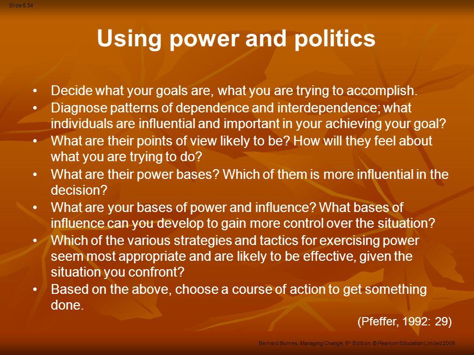 Using power and politics