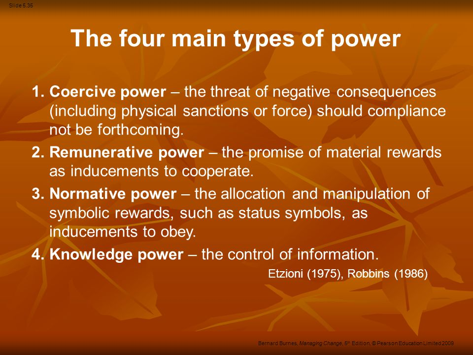 The four main types of power