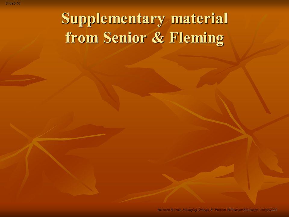 Supplementary material from Senior & Fleming