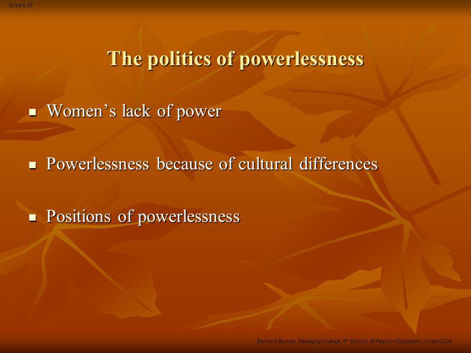 The politics of powerlessness