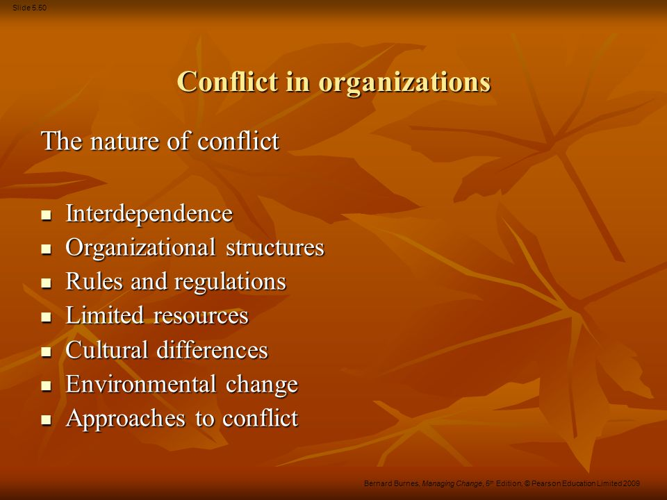 Conflict in organizations