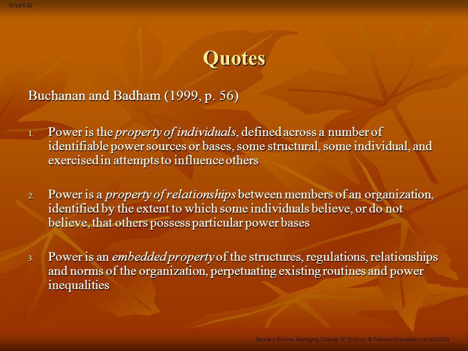 Quotes Buchanan and Badham (1999, p. 56)