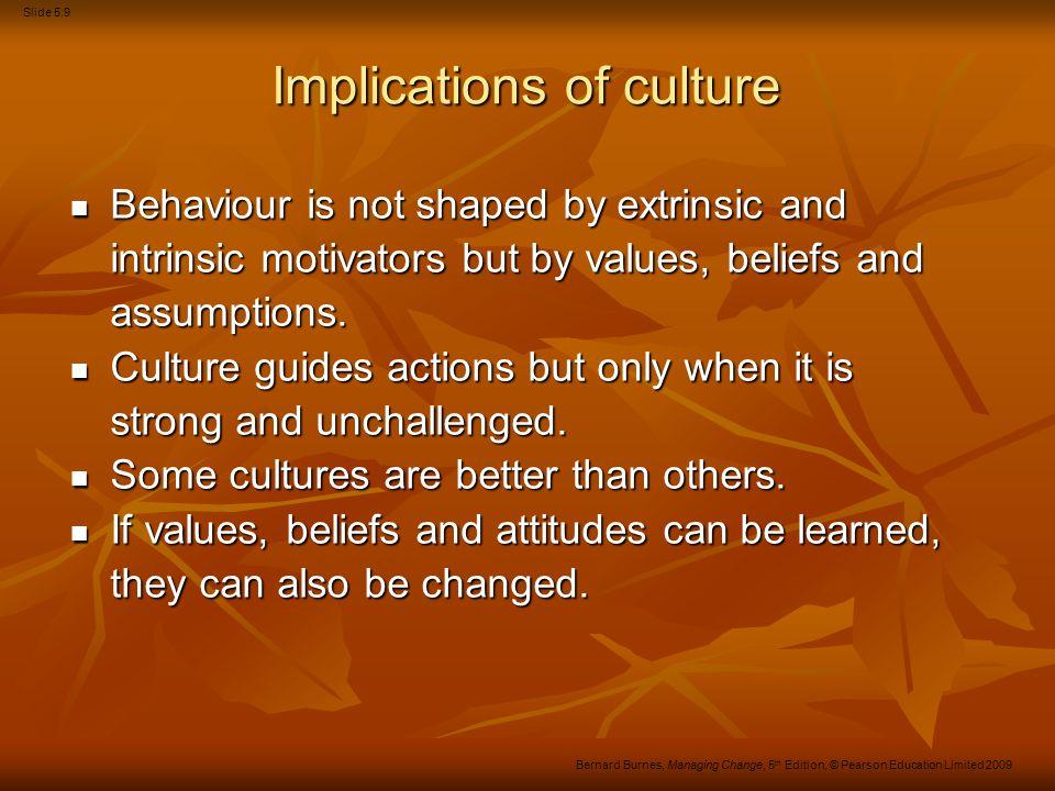 Implications of culture