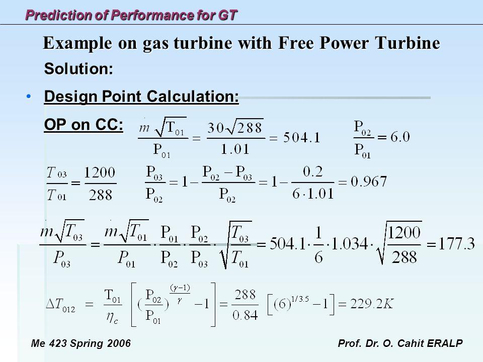 Example on gas turbine with Free Power Turbine