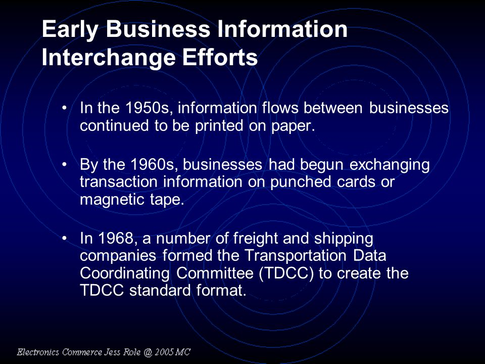 Early Business Information Interchange Efforts