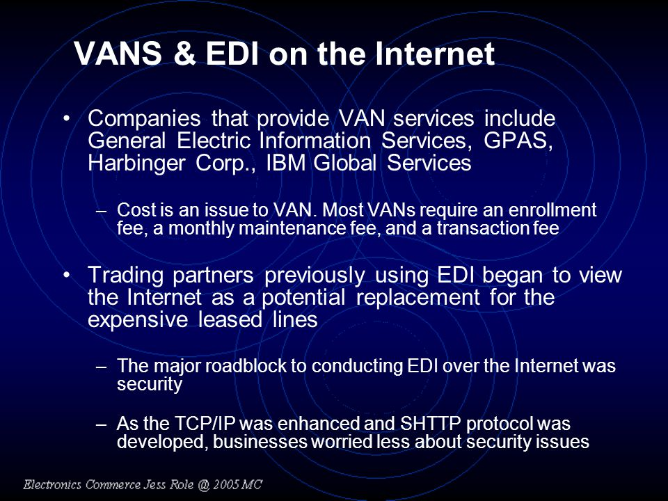 VANS & EDI on the Internet