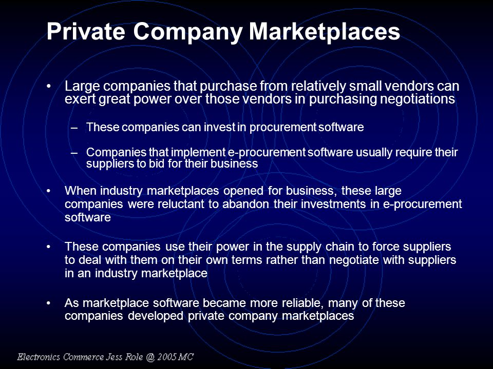 Private Company Marketplaces