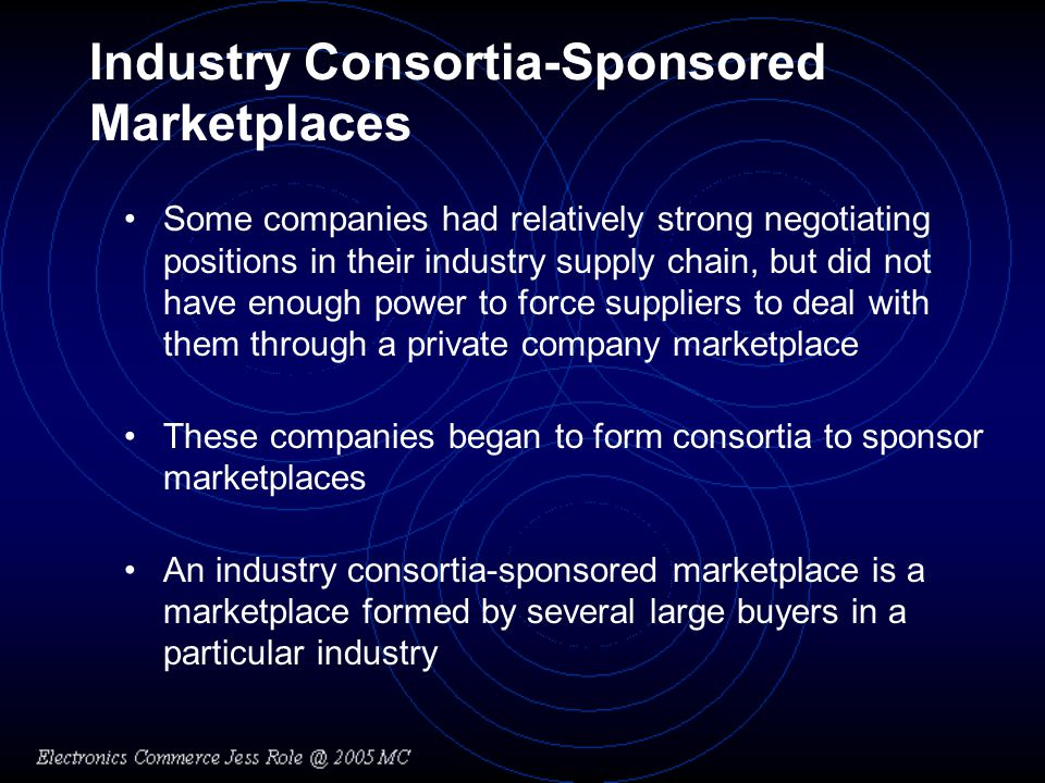 Industry Consortia-Sponsored Marketplaces