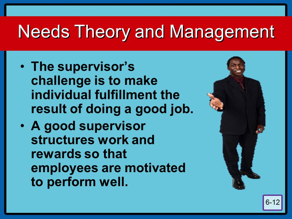 Needs Theory and Management