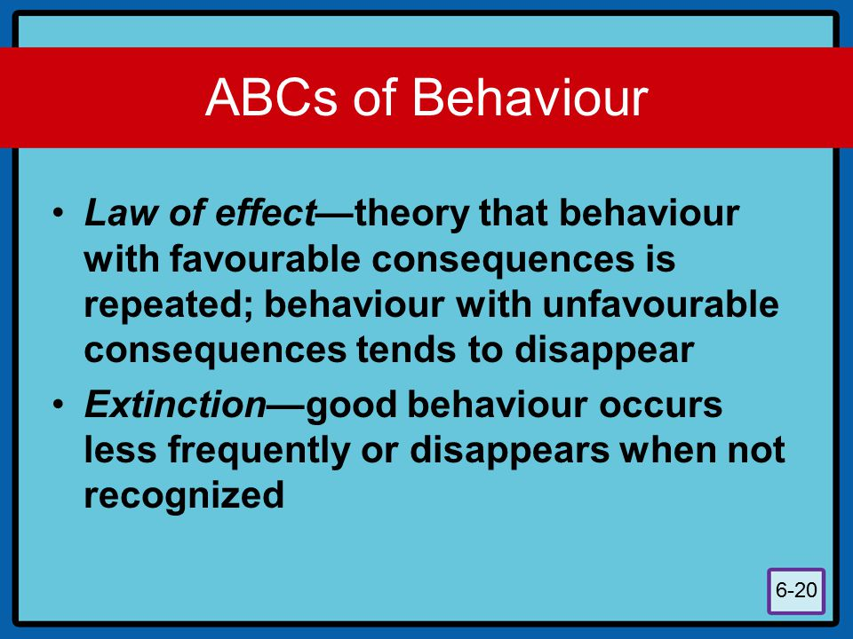 ABCs of Behaviour
