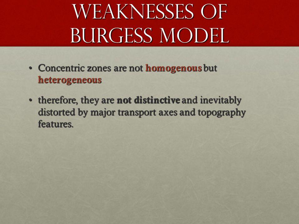 Weaknesses of burgess model