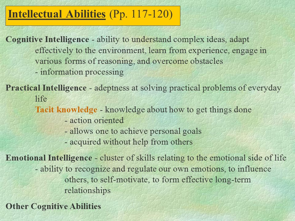 Intellectual Abilities (Pp. 117-120)
