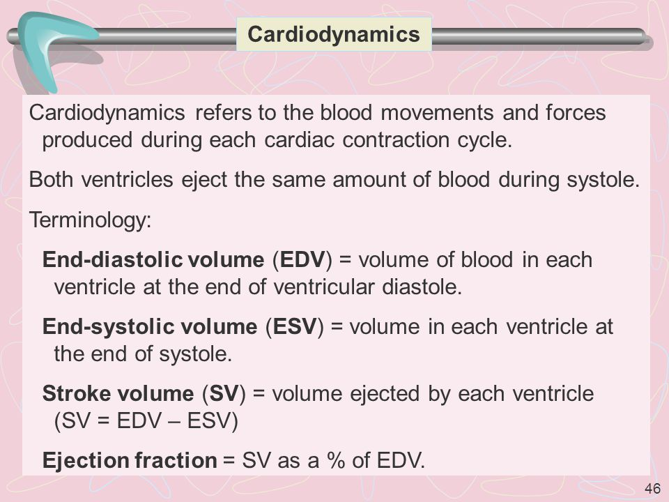 Cardiodynamics Cardiodynamics refers to the blood movements and forces produced during each cardiac contraction cycle.