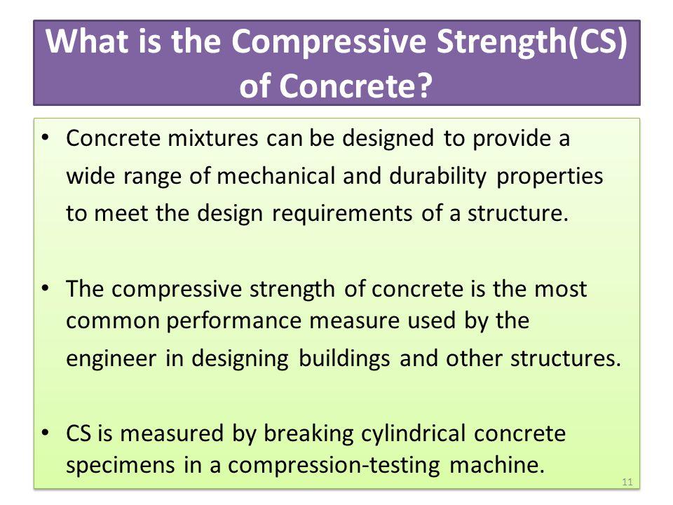 What is the Compressive Strength(CS) of Concrete