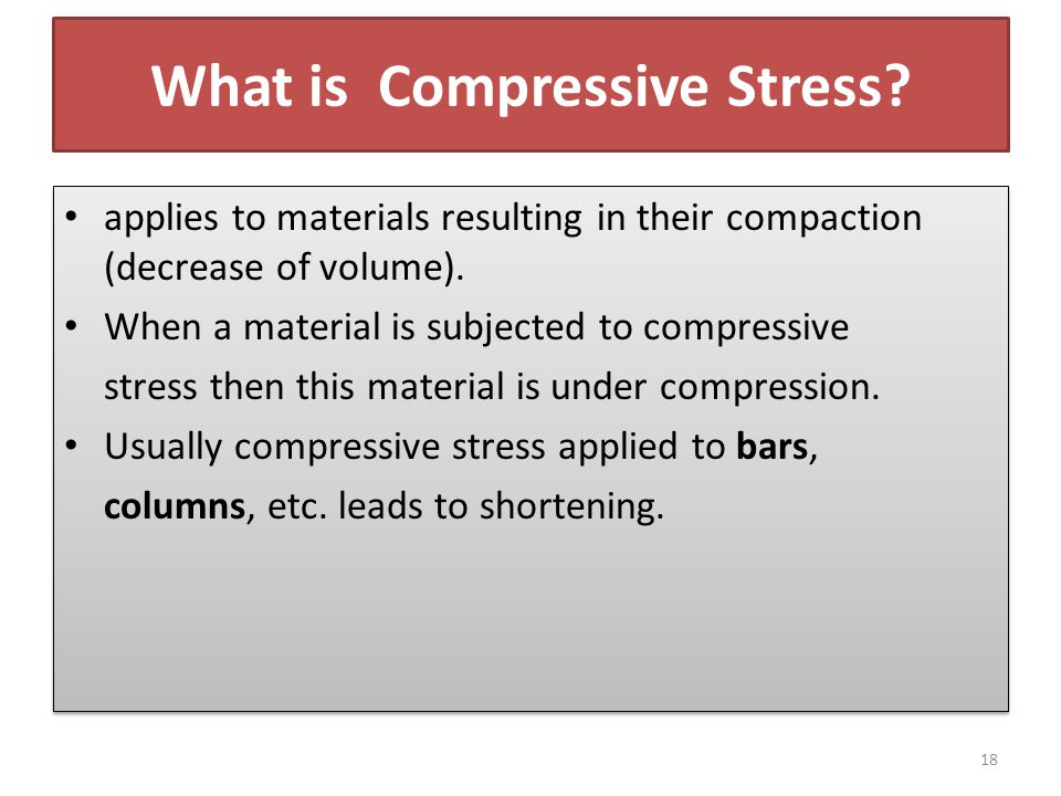 What is Compressive Stress