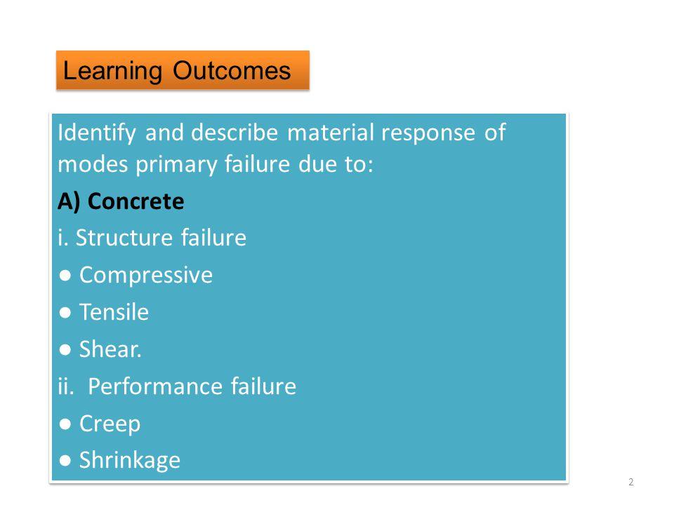 ii. Performance failure ● Creep ● Shrinkage