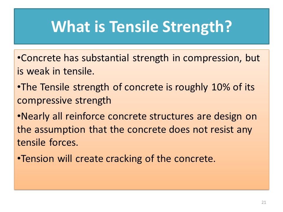 What is Tensile Strength