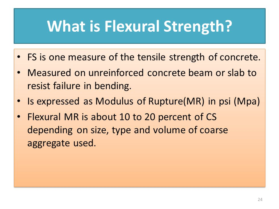 What is Flexural Strength
