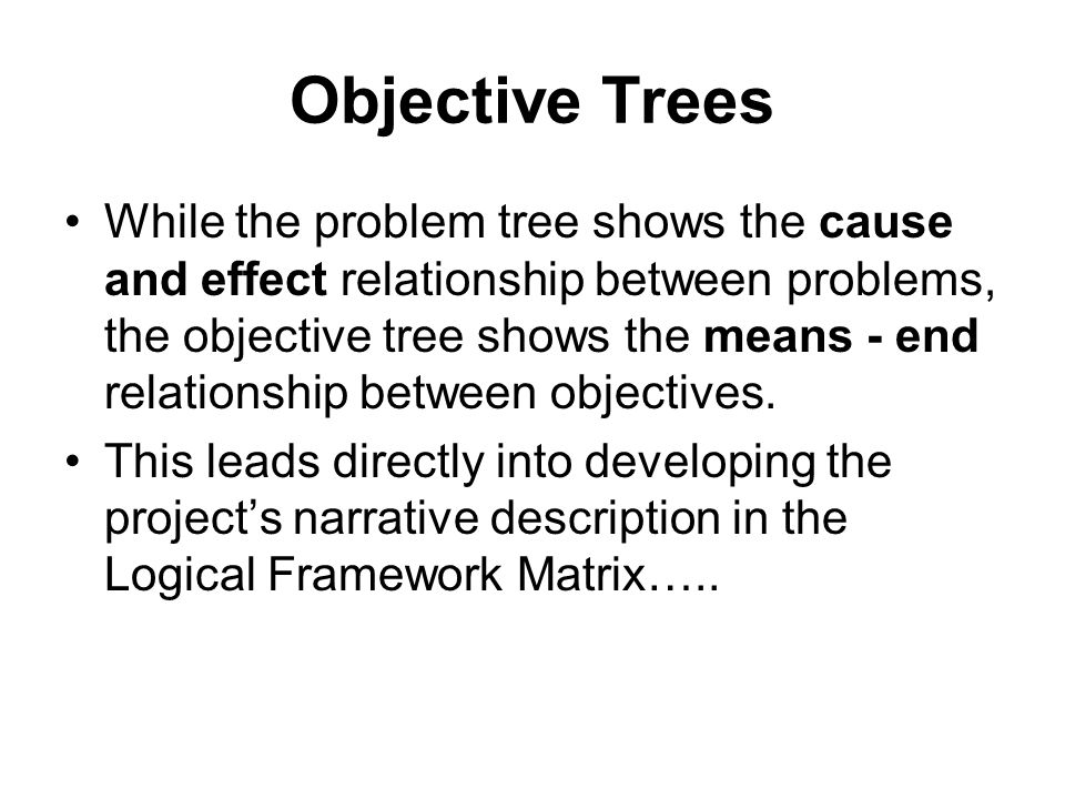 Objective Trees