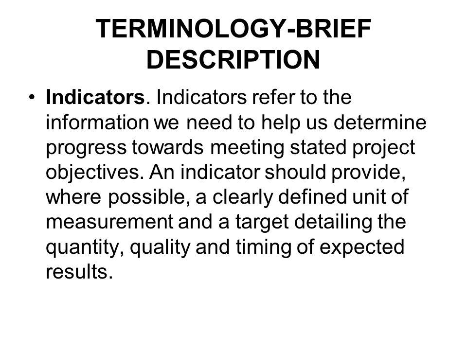 TERMINOLOGY-BRIEF DESCRIPTION