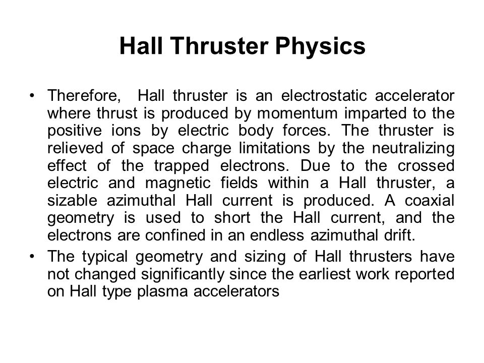 Hall Thruster Physics