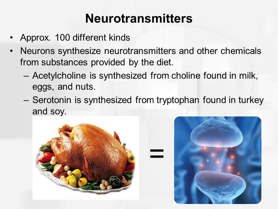 Neurotransmitters Approx. 100 different kinds