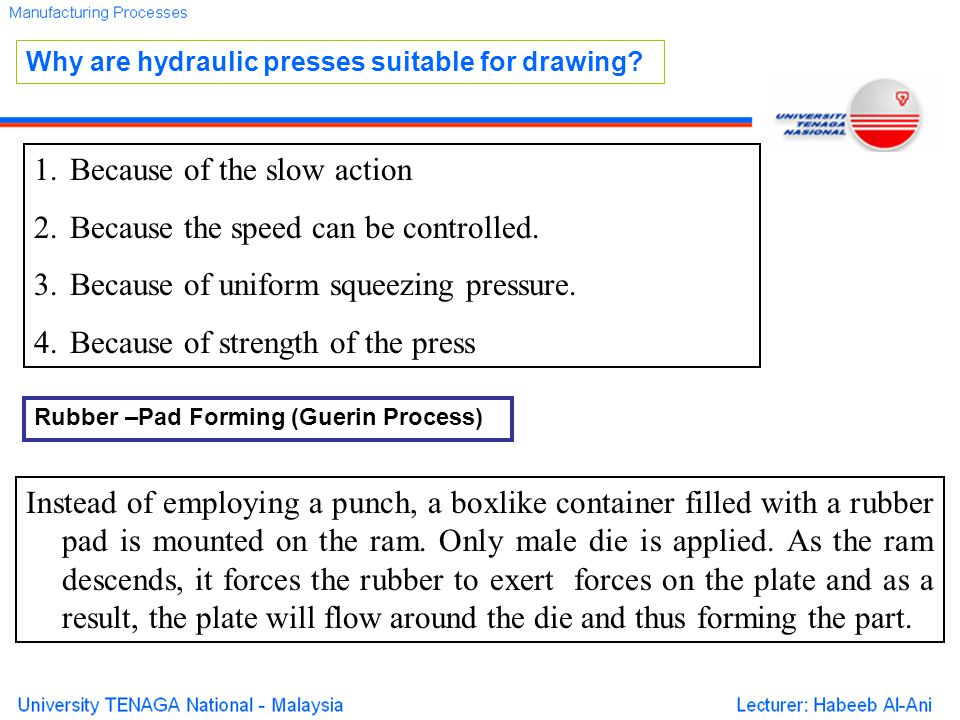 Because of the slow action Because the speed can be controlled.